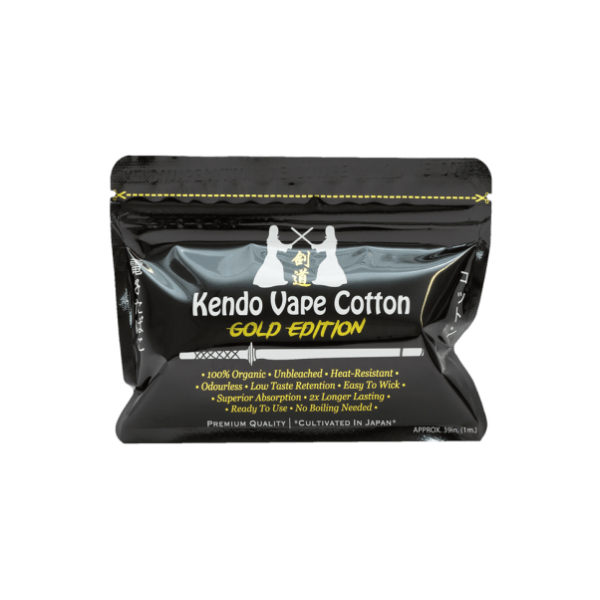 Cotton Kendo Gold Edition limited – Kendo Vape
