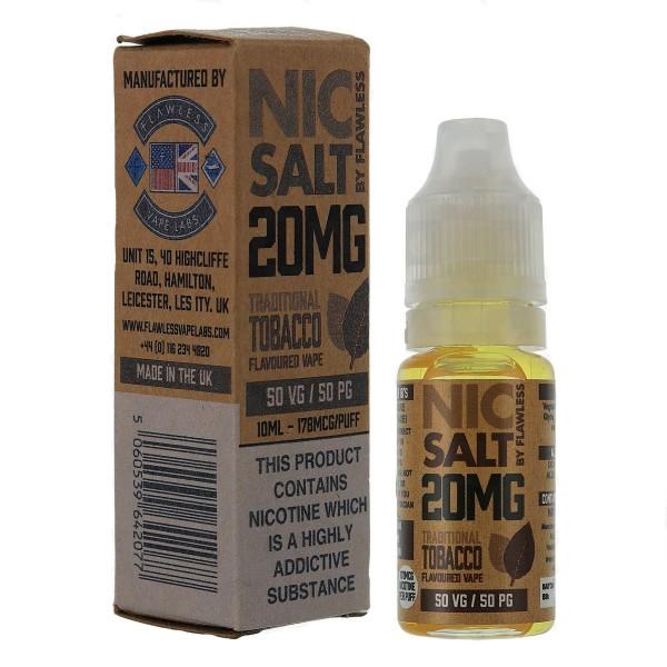 Traditional Tobacco 10ml 20mg – Nic Salt